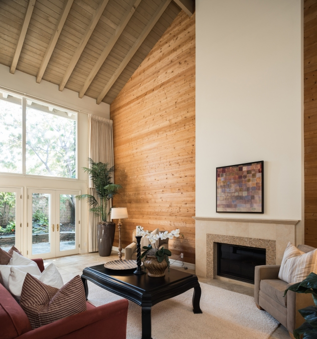 High Vaulted Ceiling Living Room